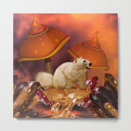 Awesome funny squirrel polar bear Metal Print