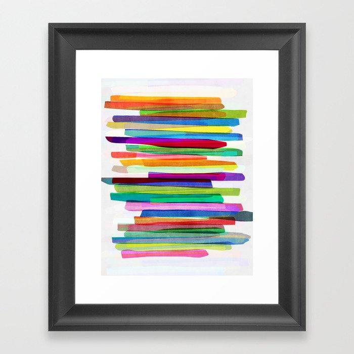Colorful Stripes 1 Gerahmter Kunstdruck