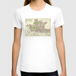 Vintage Johannesburg South Africa Map (1913) T-shirt