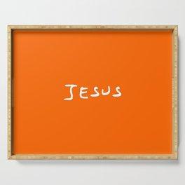 Jesus 4 orange Serving Tray