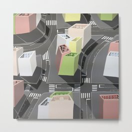 Inside-out - urban living Metal Print