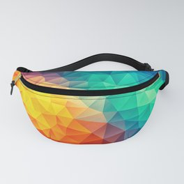 Abstract Polygon Multi Color Cubism Low Poly Triangle Design Fanny Pack