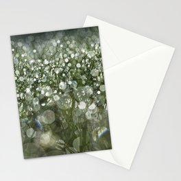 bokeh grass Stationery Cards