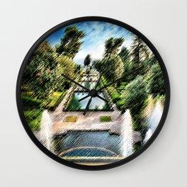 Tivoli, Italy Villa d'Este Fountains & Gardens Landscape by Jeanpaul Ferro Wall Clock