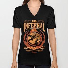 Infernal Nail Amber Ale   FFXIV Unisex V-Neck
