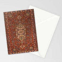 Persia Isfahan 19th Century Authentic Colorful Red Blue Tan Vintage Patterns Stationery Cards