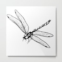 Flying dragonfly clipart. Metal Print