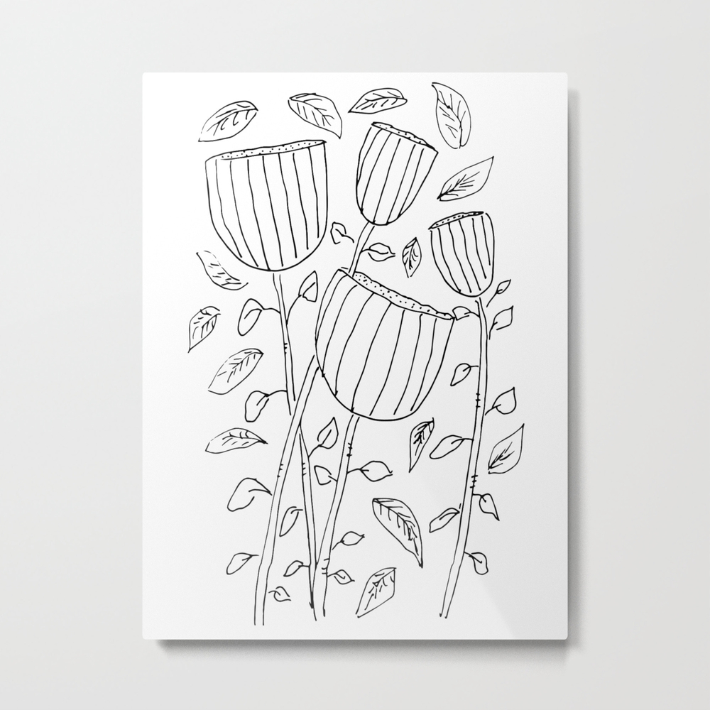 Flower Cups Metal Print by Odallie MTP8024460