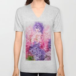 Hyacinth  watercolor Unisex V-Neck