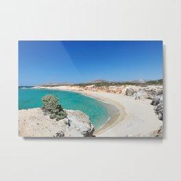 Hawaii Beach of Alyko Peninsula in Naxos island, Greece Metal Print