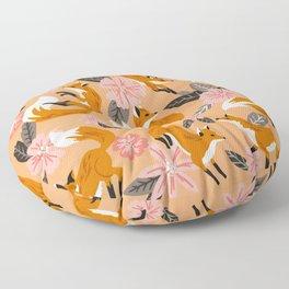 Foxes & Blooms – Melon Palette Floor Pillow