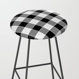 Buffalo Check - black / white Bar Stool