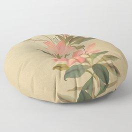 Peruvian Lily and Grasshopper Floor Pillow