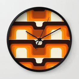 Mid-Century Modern Meets 1970s Orange Wall Clock