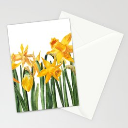 watercolor yellow narcissus Stationery Cards