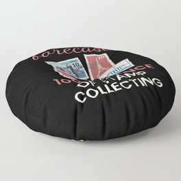Chance Of Stamp Collecting Floor Pillow