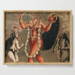Chhinnimasta Hindu Goddess of Contradiction Serving Tray