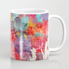 McKinney map Texas painting 2 Coffee Mug