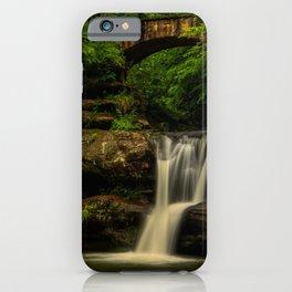 Photo USA Hocking Hills State Park Nature bridge Waterfalls park Bridges Parks iPhone Case