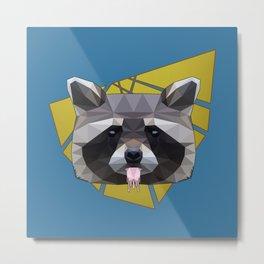 Naughty Raccoon Metal Print