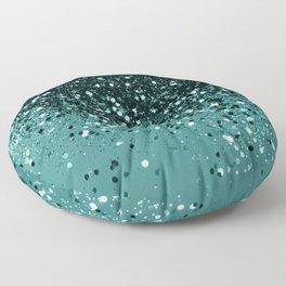 Teal Mermaid Ocean Glitter #3 #shiny #decor #art #society6 Floor Pillow