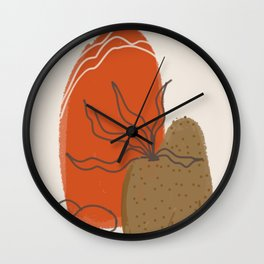 Rock and plants Wall Clock