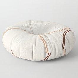 Mid Century Line Art II Floor Pillow