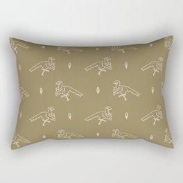 Seamless background simple Archaeopteryx dinosaur gender neutral baby pattern Rectangular Pillow