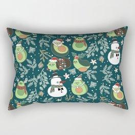 Christmas Avocado Rectangular Pillow