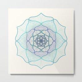 Light mandala abstraction Metal Print