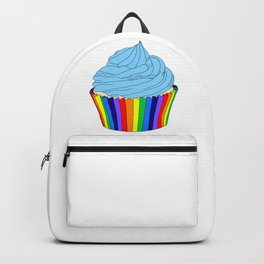Rainbow Cupcake with Blue Icing  Backpack