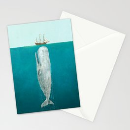 The Whale - Full Length  Stationery Cards