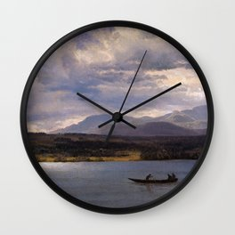Overlook Mountain From Olana By Albert Bierstadt | Reproduction Painting Wall Clock