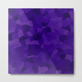 Geometric Shapes Fragments Pattern dp Metal Print