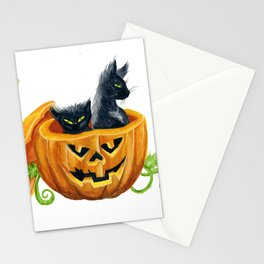 halloween cats, pumpkin, jack-o-lantern Stationery Cards