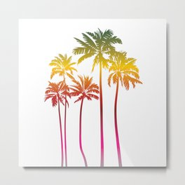Magical palms trees Metal Print