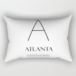 ATLANTA City Gps Coordinates N1003 Rectangular Pillow