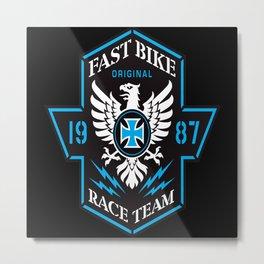 Fast Bike Metal Print
