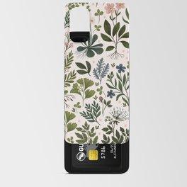 Herbarium ~ vintage inspired botanical art print ~ white Android Card Case