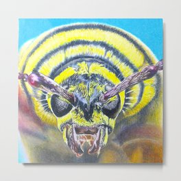 Extreme Macro Wasp Metal Print