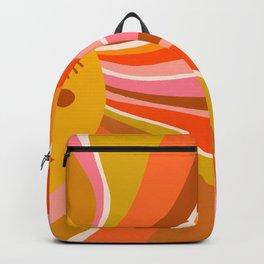 Sunshine Swirl – Retro Ochre Backpack