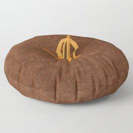 Cello Music Theme Orange Copper Floor Pillow