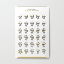 Month of Movember Metal Print