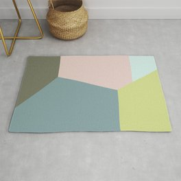 Pastel Diagonals Rug