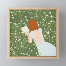 Reading in a Meadow  Framed Mini Art Print