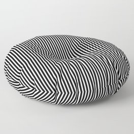 Classic Black and White Pinstripe Pattern Floor Pillow