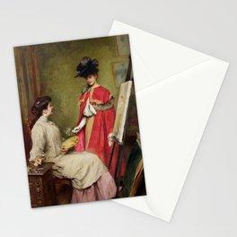 Émile Friant - The Arrival of the Model -  L'arrivée du modèle Stationery Cards