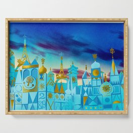 It's a Small World Serving Tray