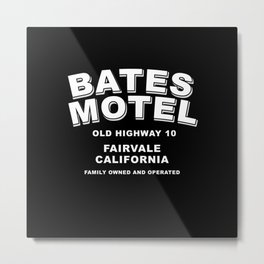 Psycho inspired Bates Motel logo Metal Print