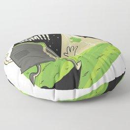 UFO sucks a cow Floor Pillow